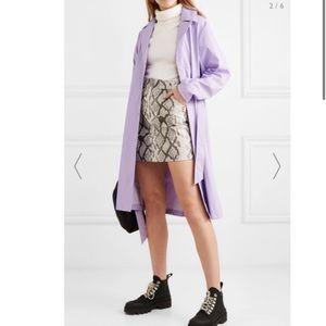 RAINS • lavender matte raincoat